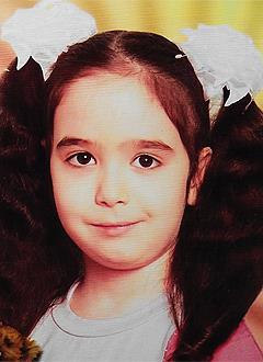 Диана Кверквелия, 9 лет, асимметрия лица, недоразвитие нижней челюсти, сужение зубных рядов, требуется ортодонтическое лечение. 100000 руб.