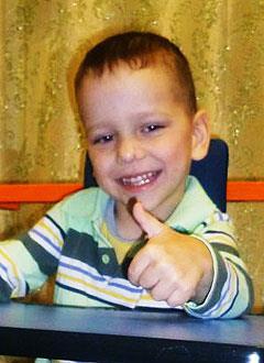 Саша Димитриев, 6 лет, детский церебральный паралич, эпилепсия, требуется лечение. 199430 руб.