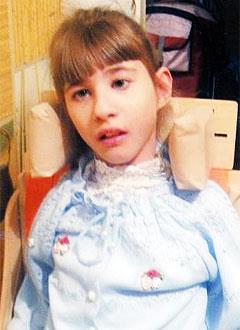 Даша Плужарова, 12 лет, детский церебральный паралич, требуется курсовое лечение. 190800 руб.