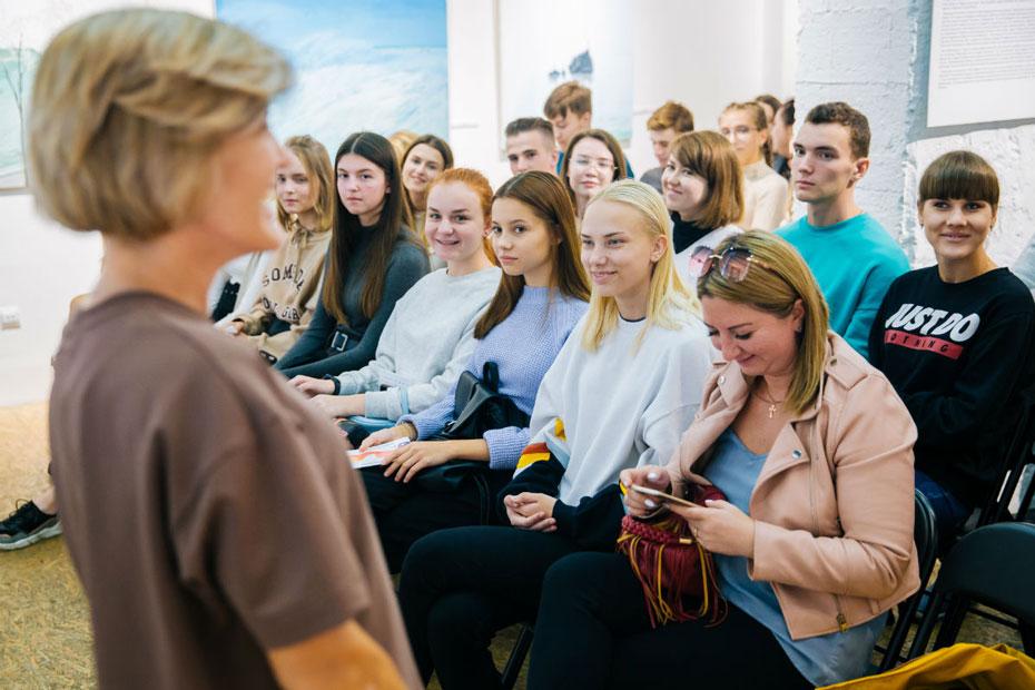 На лекции о донорстве костного мозга в Липецке. Фото предоставлено пресс-службой администрации города